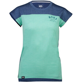 Mons Royale Zephyr Lite Tee Dame oily blue/peppermint